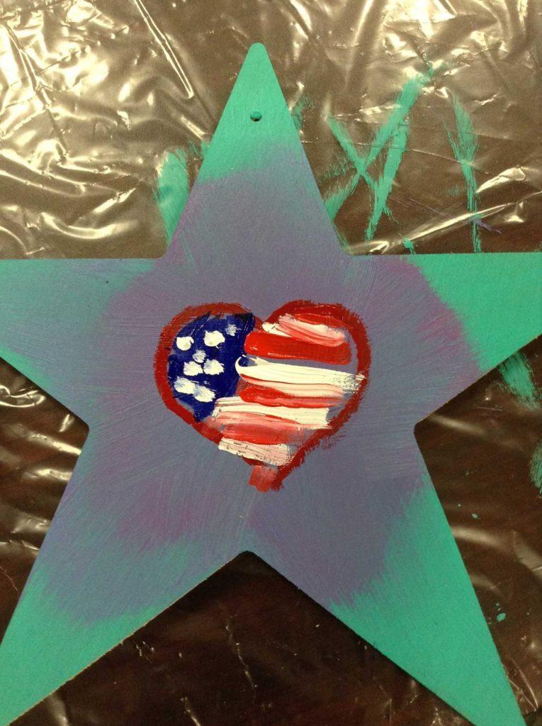 Flag Heart - Star of HOPE