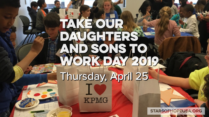 Stars of HOPE® the perfect project for Take Our Daughters and Sons to Work Day.